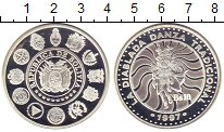 Изображение Монеты Боливия 10 боливар 1997 Серебро Proof