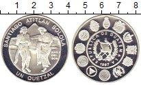 Изображение Монеты Гватемала 1 куэталь 1997 Серебро Proof
