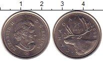 Изображение Монеты Канада 25 центов 2008 Медно-никель XF
