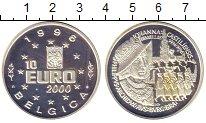 Изображение Монеты Бельгия 10 евро 2000 Серебро Proof