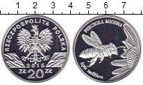 Изображение Монеты Польша 20 злотых 2015 Серебро Proof Пчела