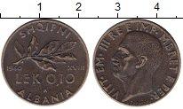 Изображение Монеты Албания 0,10 лек 1940 Медь XF