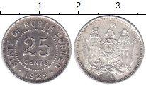 Изображение Монеты Борнео 25 центов 1929 Серебро XF