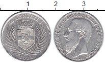 Изображение Монеты Бельгийское Конго 50 сантим 1896 Серебро XF