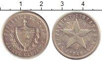 Изображение Монеты Куба 20 сентаво 1948 Серебро XF