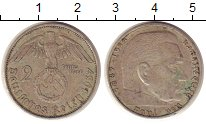 Изображение Монеты Третий Рейх 2 марки 1937 Серебро XF