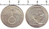 Изображение Монеты Третий Рейх 2 марки 1939 Серебро XF A   Пауль  фон  Гинд