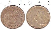 Изображение Монеты Третий Рейх 2 марки 1938 Серебро XF F   Пауль  фон  Гинд