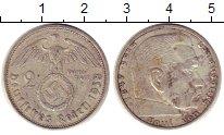 Изображение Монеты Третий Рейх 2 марки 1938 Серебро XF A   Пауль  фон  Гинд