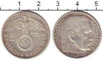 Изображение Монеты Третий Рейх 2 марки 1938 Серебро XF E   Пауль  фон  Гинд