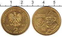 Монета Польша 2 злотых Латунь 2001 UNC- фото