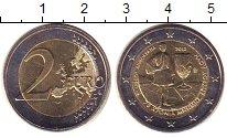 Монета Греция 2 евро Биметалл 2015 UNC-