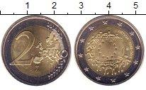 Изображение Монеты Литва 2 евро 2015 Биметалл UNC- 30 - летие  Евросоюз
