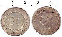 Изображение Монеты Малайзия Саравак 20 центов 1911 Серебро VF