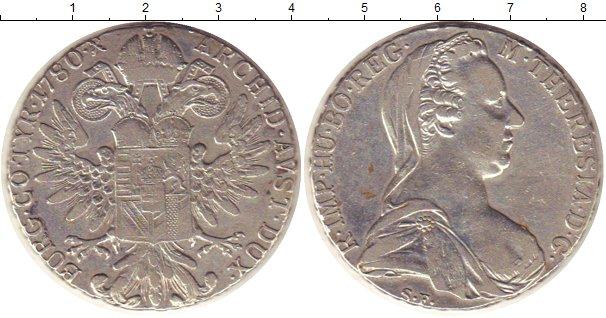 Картинка Монеты Австрия 1 талер Серебро 1780
