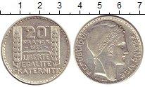 Изображение Монеты Франция 20 франков 1933 Серебро XF Марианна - символ  Ф