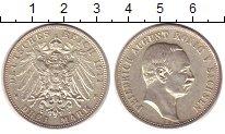 Изображение Монеты Саксония 3 марки 1911 Серебро UNC- Фридрих  Август III