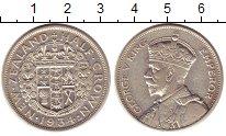 Изображение Монеты Новая Зеландия 1/2 кроны 1934 Серебро XF+ Георг V