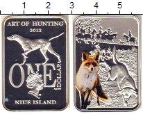 Изображение Монеты Ниуэ 1 доллар 2012 Серебро Proof- Цифровая  печать.  Е
