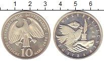 Изображение Монеты Германия 10 марок 1998 Серебро Proof J  350  лет  свободы