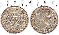 Изображение Монеты Латвия 5 лат 1932 Серебро XF