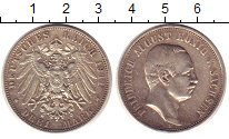 Изображение Монеты Саксония 3 марки 1911 Серебро XF- Фридрих Август