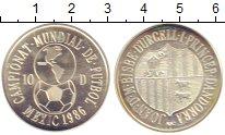 Изображение Монеты Андорра 10 динерс 1986 Серебро Proof-