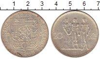 Изображение Монеты Чехословакия 20 крон 1934 Серебро XF