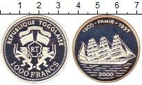 Изображение Монеты Того 1000 франков 2000 Серебро Proof-
