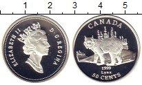 Изображение Монеты Канада 50 центов 1999 Серебро Proof Елизавета II.  Рысь