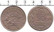 Изображение Монеты Камерун 50 франков 1960 Медно-никель XF Антилопы