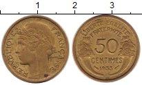 Изображение Монеты Франция 50 сантим 1933 Латунь XF
