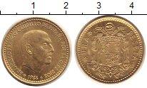 Изображение Монеты Испания 1 песета 1966 Латунь UNC-