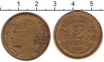 Изображение Монеты Франция 2 франка 1938 Латунь XF