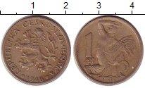Изображение Монеты Чехия Чехословакия 1 крона 1946 Медно-никель XF