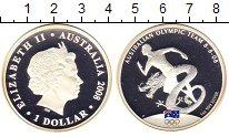 Изображение Монеты Австралия 1 доллар 2008 Серебро Proof Елизавета II.  Австр