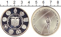 Изображение Монеты Эквадор 1 сукре 2007 Серебро Proof Спортсмен  Эквадора