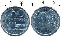 Изображение Монеты Бразилия 50 сентаво 1978 Медно-никель XF