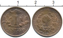 Изображение Монеты Колумбия 1 сентаво 1961 Бронза XF