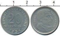 Изображение Монеты Аргентина 20 сентаво 1954 Медно-никель XF Хосе  де  Сан  Марти