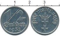 Изображение Монеты Польша Данциг 1/2 гульдена 1932 Медно-никель XF+
