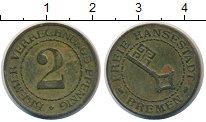 Изображение Монеты Бремен 2 пфеннига 1924 Латунь XF