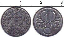 Изображение Монеты Польша 1 грош 1939 Медь XF