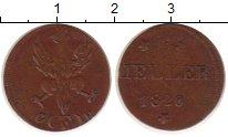 Изображение Монеты Франкфурт 1 геллер 1820 Медь VF