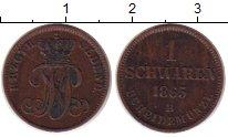 Изображение Монеты Германия Ольденбург 1 шварен 1865 Медь XF