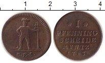 Изображение Монеты Германия Ганновер 1 пфенниг 1783 Медь VF-