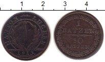 Изображение Монеты Швейцария Люцерн 1 батзен 1813 Медь VF