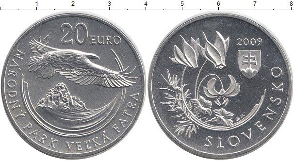 Картинка Монеты Словакия 20 евро Серебро 2009