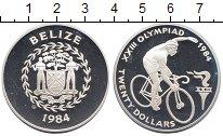 Изображение Монеты Белиз 20 долларов 1984 Серебро Proof- Олимпиада 84