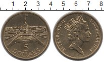 Изображение Монеты Австралия 5 долларов 1988 Латунь UNC